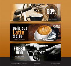 Design banner for social networks, templ... | Premium Vector #Freepik #vector #banner #menu #sale #coffee