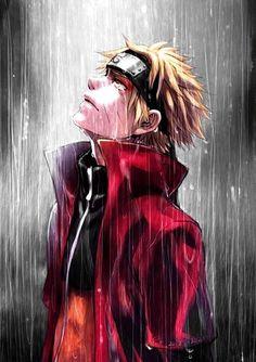 Naruto (Toad Sage in rain). My absolute favorite Naruto illustration. Naruto Gif, Naruto Uzumaki, Sasunaru, Manga Naruto, Sasuke Uchiha, Naruhina, Naruto Crying, Narusaku, Hinata Hyuga