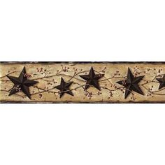 Brewster Home Fashions Borders by Chesapeake George Tin Star Trail 15' x 27'' 3D Embossed Border Wallpaper Color: