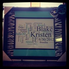 Amazing gift for Bridal shower, personalize for baby, grandparents, anything!