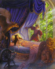 Sleeping Beauty ~ artist: Scott Gustafson