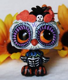 Sugar Skull Skeleton OOAK Hand Painted Custom by LittleCustomShop