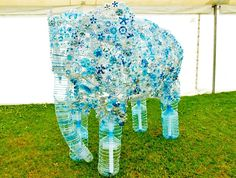 Hundreds of Children Build Amazing Elephant Sculpture from 900 Recycled Plastic Bottles in the UK | Inhabitat - Sustainable Design Innovation, Eco Architecture, Green Building