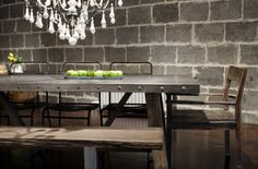The zinc collection designed by CDI Furniture adds presence to any room leaving people talking for days about the uniqueness of the zinc and wood combination.