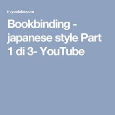 japanese style Part 1 di 3- YouTube