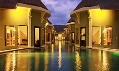 Villa Seminyak Estate & Spa in Bali.  These are the Lagoon Villas.  What a great getaway vacation!