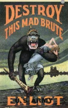 American propaganda against german empire 1st WW