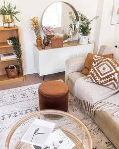 Not sure what to pair with orange? These shades work well with all types of orange hues. Boho Chic Living Room, Boho Chic Bedroom, Eclectic Bedroom Decor, Ethnic Living Room, Ethnic Bedroom, Scandi Living Room, Scandi Bedroom, Eclectic Furniture, Boho Chic Interior