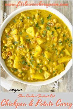 Slow Cooker Vegetarian Curry, Vegan Slow Cooker, Slow Cooker Soup, Vegan Curry, Vegan Crockpot Recipes, Curry Recipes, Vegetarian Recipes, Cooking Recipes, Vegan Meals