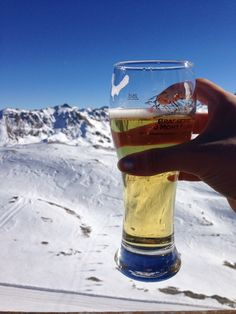 Enjoying a lovely beer surrounded by the lovely French Alps