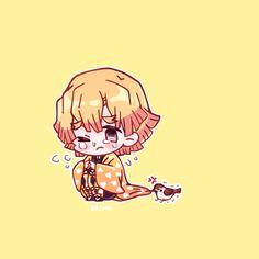 Demon Slayer( Kimetsu No Yaiba) Photo+memes - My baby Zenitsu Anime Chibi, Kawaii Anime, Anime Manga, Demon Slayer, Slayer Anime, Neko, Anime Character Drawing, Gekkan Shoujo, Cool Sketches