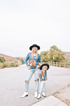 Mommy and Me Fall Floral Tunics | Brooklynn