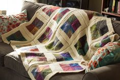 Mitered Squares Blanket | Noro Silk Garden and Cascade Eco W… | Flickr