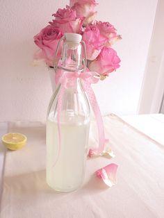 Rosenwasser Limo ❤ Rezept auf:  http://www.lovely-joys.de/
