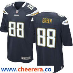 4ecb5b714 Men's Los Angeles Chargers #88 Virgil Green Navy Blue Team Color Stitched NFL  Nike Game Jersey