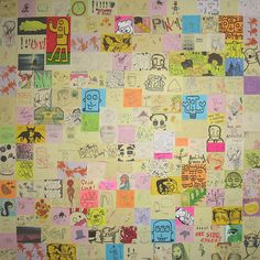 Post-It Note Art Collage (PINAP) by Adrian Wallett, via Flickr