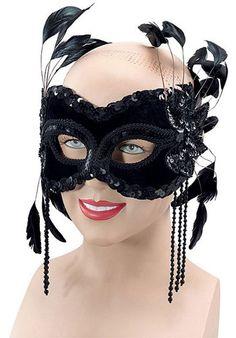 Velvet Mask Black With Feathers - Eye Masks at Escapade™ UK - Escapade Fancy Dress on Twitter: @Escapade_UK