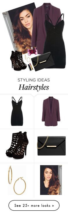 """""""Untitled #446"""" by avazova-aida on Polyvore featuring Topshop, Hervé Léger, MICHAEL Michael Kors, Bony Levy, Viktor & Rolf and Chanel"""