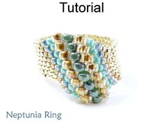 Beading Tutorial Pattern Beaded Ring Peyote door SimpleBeadPatterns