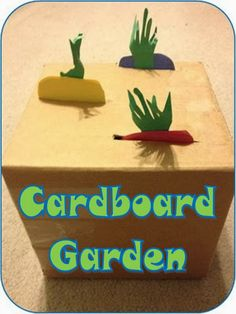 Life in Random Bits: Cardboard Garden {activity} Toddler Activities Daycare, Toddler Crafts, Preschool Crafts, Activities For Kids, Preschool Farm, Toddler Art, Alphabet Activities, Infant Activities, Spring Projects
