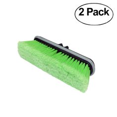 CARCAREZ Flow-Thru Washing Brush Head, Green, Pack of 2 * Continue to the product at the image link. (This is an affiliate link)