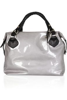 PAURIC SWEENEY Overnight 1 patent-leather tote
