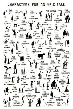 Characters for an epic tale -by Tom Gauld