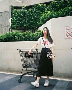 Casual Fall Outfits That Will Make You Look Cool – Fashion, Home decorating Korean Fashion Trends, Korean Street Fashion, Korea Fashion, Asian Fashion, Look Fashion, Daily Fashion, Trendy Fashion, Trendy Style, Womens Fashion