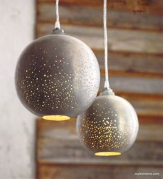 Roost Constellation Pendant Lamps are stylish lighting solutions to light up each corner of your house. Stardust sparkles of light glow from our Constellation Pendants Lamps. Globes of raw iron are treated with a phosphate coating to create a darkened halo effect.