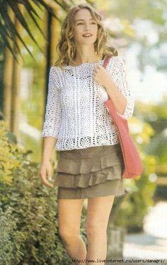 nice crochet top remera