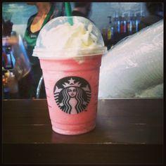 The classic Cotton Candy Frappuccino! •Vanilla Bean Frappuccino •Add Raspberry Syrup (1 pump tall, 1.5 pumps grande, 2 pumps venti)