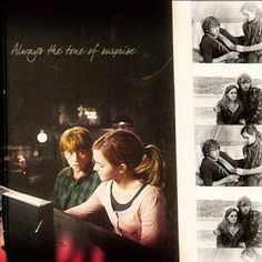 Ron Weasely and Hermione Granger: love