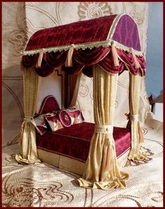 By simply silk miniatures Resin Patio Furniture, Chest Furniture, Cool Furniture, Miniature Furniture, Dollhouse Furniture, Furniture Making, Swags And Tails, Janmashtami Decoration, Home Theater Furniture