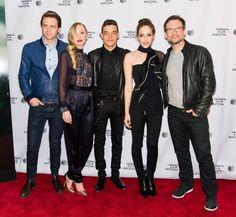 Martin Wallström, Portia Doubleday, Rami Malek, Carly Chaikin and Christian Slater at Tribeca Film Festival for Mr Robot