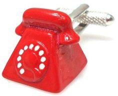 #procuffs.com             #ring                     #Retro #Telephone #Cufflinks #Ring                  Retro Telephone Cufflinks Old Ring Red                                        http://www.seapai.com/product.aspx?PID=1234946