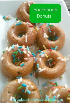 .baked sourdough donuts recipe....made 18, different and delicious....another use for sourdough starter