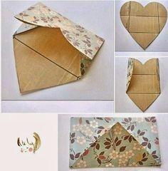 Sobre Cute Envelopes, Handmade Flowers, Decorative Boxes, Diy, Home Decor, Ideas, Paper, Creative, Decoration Home