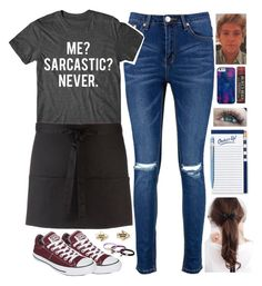 """""""When You Meet Niall 🍔"""" by maribel on Polyvore featuring Converse, Boohoo, Aéropostale, Kate Spade, Caran D'Ache, Burt's Bees, Case-Mate and Marc Jacobs"""
