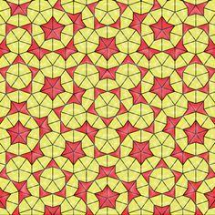 """""""Sol Infinito"""". La otra (solo hay dos) teselación con simetría de orden 5 de Penrose."""