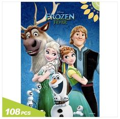Frozen Fever Jigsaw Mini Puzzle 108pcs Beginner Kids Children Toy Hobby By Korea #ToyPuzzle