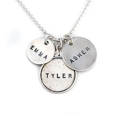 Look what I found on #zulily! Sterling Silver Proud Mama Triple Personalized Pendant Necklace by Jenny Present #zulilyfinds
