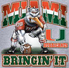 miami hurricanes football   Miami Hurricanes Football T-Shirts - Unique College T-Shirts