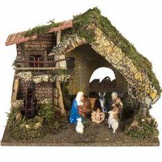 Empty hut with fence cm Christmas Nativity Scene, Christmas Villages, Christmas Home, Christmas Holidays, Christmas Decorations, Xmas, Cabana, Pop Up Flower Cards, Fontanini Nativity