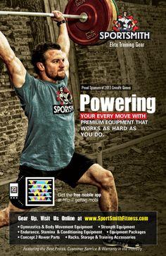 Breck from CrossFit Jenks in Sportsmiths CrossFit Games Brochure.