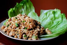 PF Changs Lettuce Wraps.  I just cut up chicken in small pieces rather than using ground chicken and it worked great.  I also didn't use the chili garlic sauce or green onions, and it still was AMAZING.