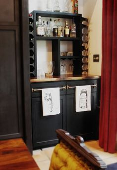 Custom built in bar