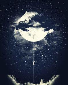 """#MoonClimbing por #LosTomatos. """"y libres para siempre de la luna lunática fornicaron al fin como dios manda"""" MB."""