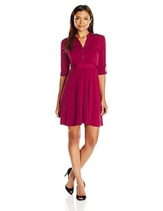 New NY Collection Women's Petite Size Long Sleeve Solid Point Collar Dress online. Find great deals on Ellie's Dresses from top store. Sku gvyg26420qede37916