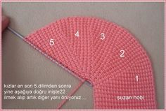 A different way to assemble knitted / crocheted slippers. Much the same way a shoemaker would when cutting leather pieces for shoes - Salvabrani Crochet Baby Socks, Crochet Shoes, Crochet Slippers, Knitting Socks, Baby Knitting, Knitted Hats, Knitting Designs, Knitting Patterns, Crochet Patterns