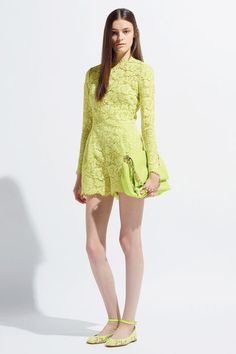 #Valentino #Jumpsuit #neon yellow